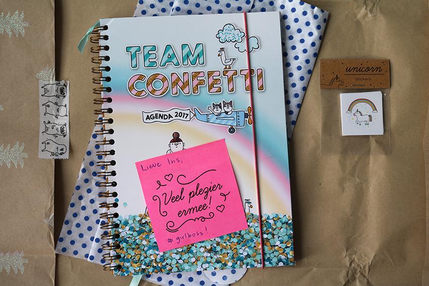 Team Confetti agenda 2017