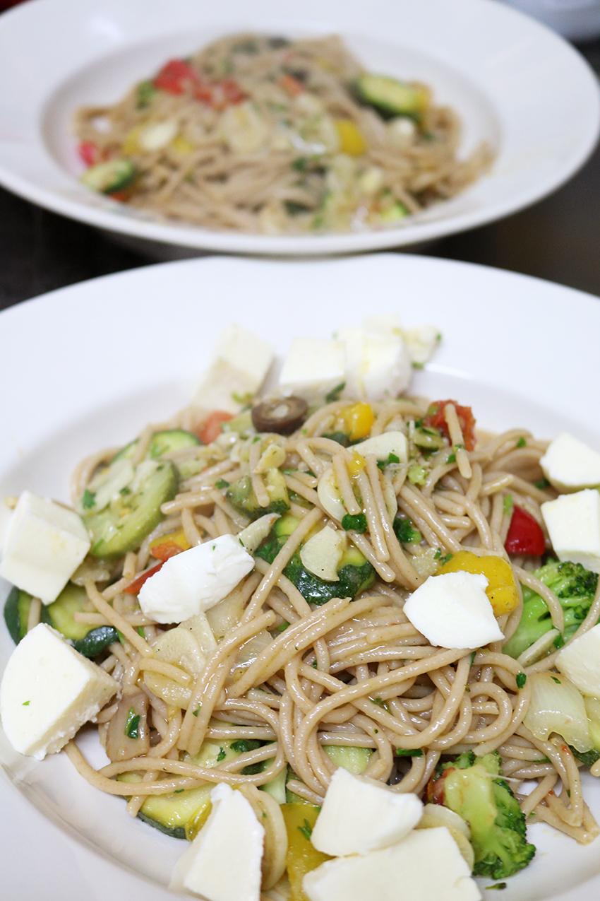 Spaghetti met groente