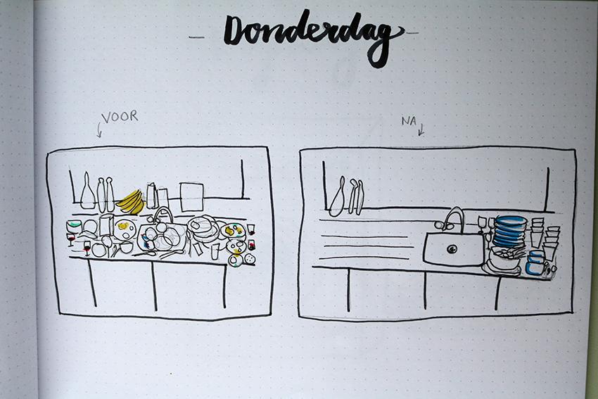 Donderdag - afwas