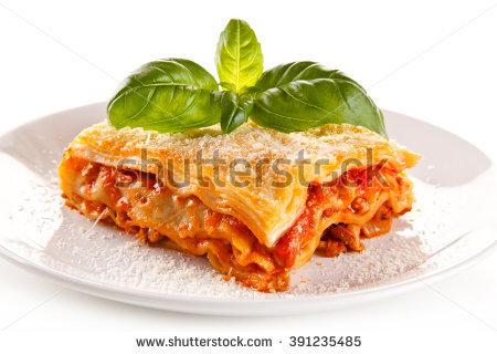 stock foto van lasagne