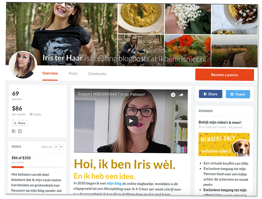 Patreon tips & tricks voor bloggers