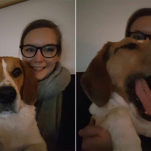 selfies met ollie
