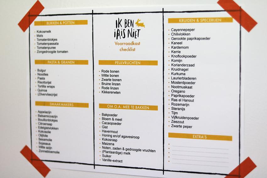 Voorraadkast organiseren - Gratis printable!