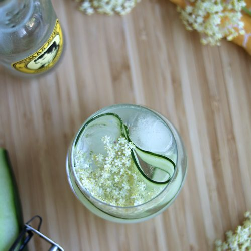 gin-tonic met vlierbloesem