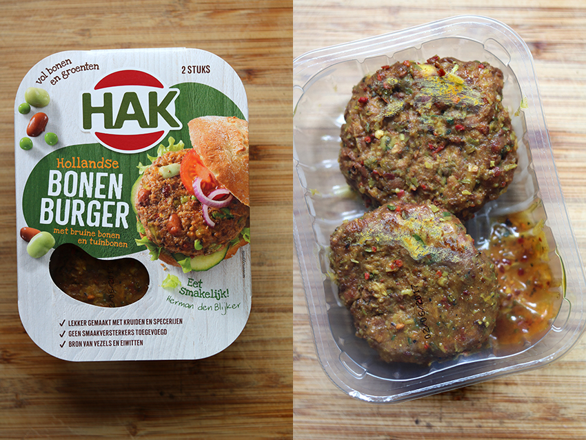 Groenteburgers test: HAK Hollandse bonenburger