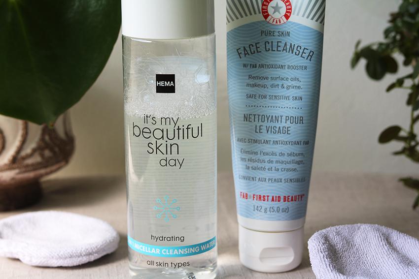 Huidverzorgingsroutine tegen acne: reinigen