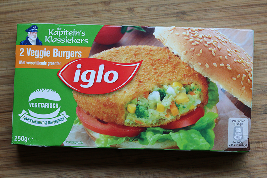 Groenteburgers test: Iglo veggie burgers