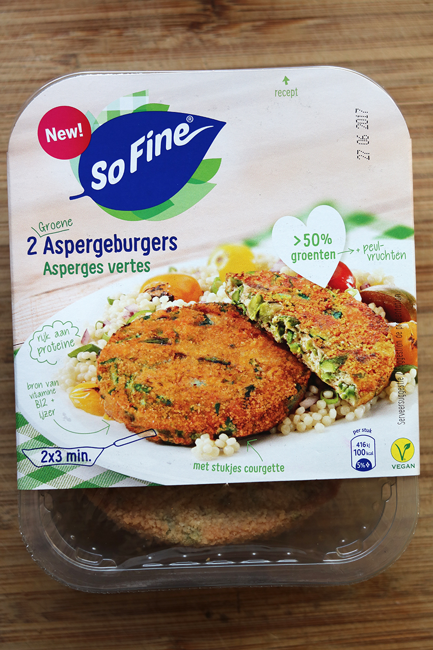 Groenteburgers test: SoFine aspergeburgers