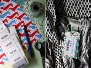 Spullen verkopen met zelf gemaakte prijskaartjes