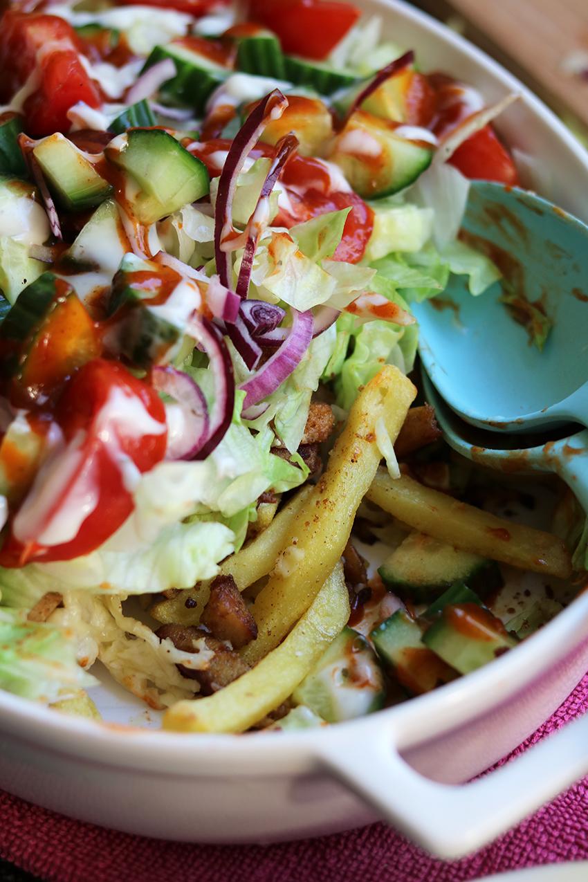 Recept voor vegetarische kapsalon