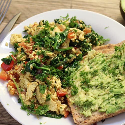 Recept: Scrambled tofu met kala namak