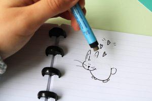 Uitwisbaar notitieboek gelinieerd