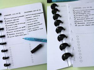 Uitwisbaar notitieboek met to do list