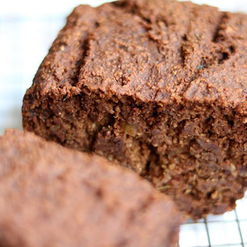 Recept: chocolade-bananenbrood van Rens Kroes