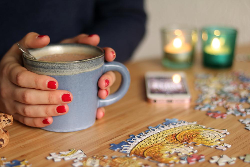 warme chocolademelk en gezellige boeken