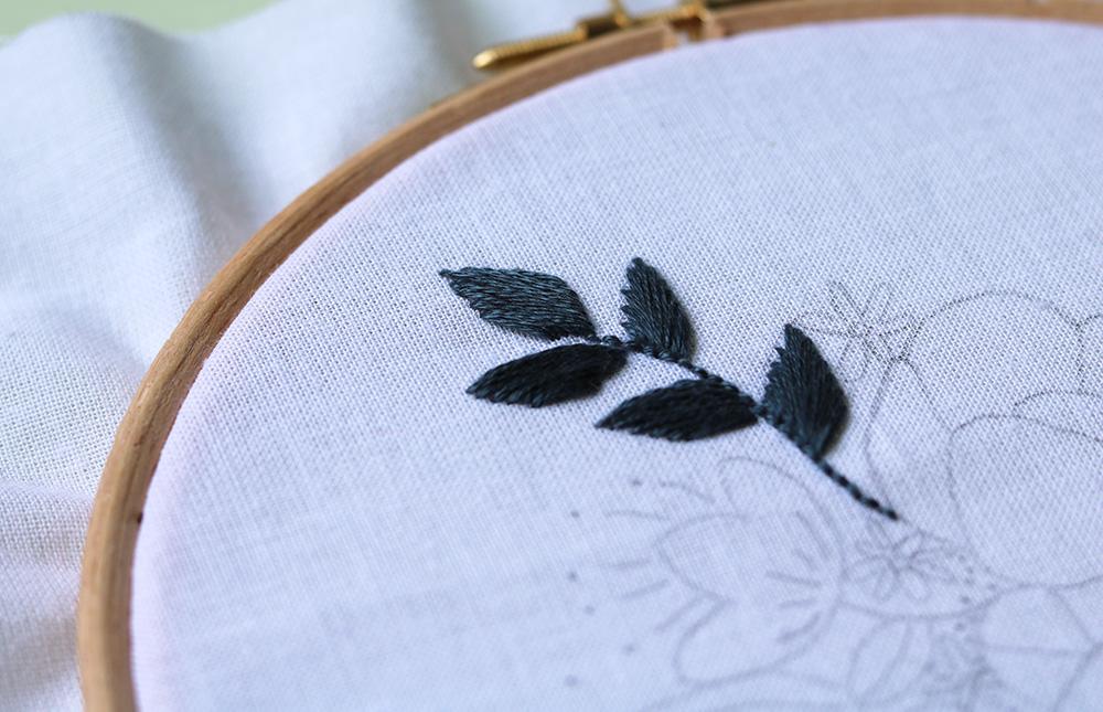 Beginnen met borduren - satin stitch