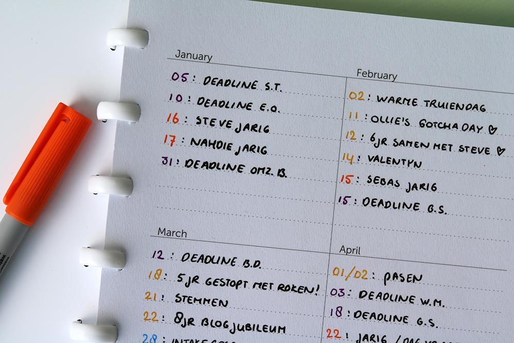 GreenBook - Year Planner
