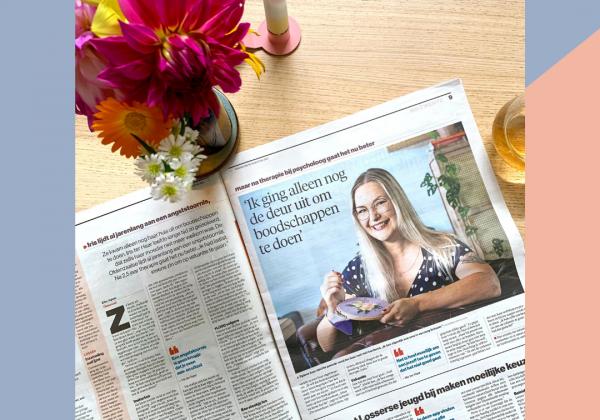 Krantenartikel Tubantia: Een steekje los door Iris ter Haar